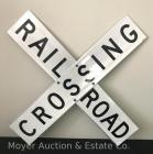 "Metal Reflective Rail Road Crossing Sign - Like New - 48""x48"""