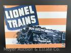 "Lionel Trains Tin Sign, 11""x16"", reproduction, like-new"