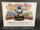 "American Flyer Train Tin Sign, 12""x16"", reproduction, like-new"