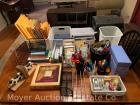 Group of office items & supplies: organizer, baskets, envelopes, pens, markers, etc