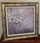 "Decorative print of cherry blossoms, like-new from Kohl's, 27"" x 27"" overall"