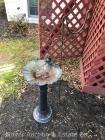 Small Metal Bird Bath and 'shepards' plant hook