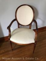 "White Upholstered Side Chair, 22""wide, excellent condition"