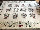 "Applique Quilt ""Baltimore Album Look-Alike, 2003, hand quilted, 96"" x 118"", excellent cond."