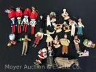 Group of Vintage Christmas Figures and Decorations