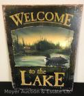 "New Welcome to the Lake Tin Sign 12""x16"""