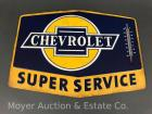 "Chevrolet Super Service Tin Advertising Thermometer 10"" x 14"""