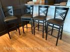 4 Bar Stools, black metal, X-back, just over 1yr. old; price is per stool x4