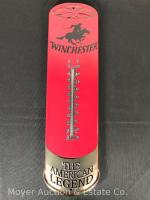 "Tin Winchester Shot Shell Advertising Thermometer, new, 25""tall"