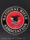 "National Rifle Association Round Tin Sign, 11""wide"