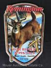 "Remington Tin Sign for Rifles and Pistols, 13""long, new"
