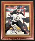 Martin Biron Buffalo Sabres Autographed Photograph, framed, 10x12""