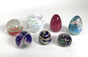 Group of Artglass Paperweights