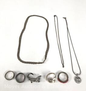 Group of Sterling Silver Jewelry, 1.14 tr. oz.