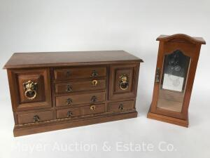 Pair of Wood Jewelry Boxes