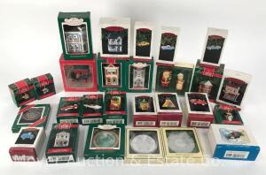 Large Group of Hallmark Christmas Ornaments