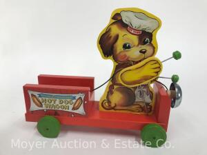 "2001 Fisher-Price Classic ""Hot Dog Wagon"" pull toy, No. 75001, limited edition, with box"