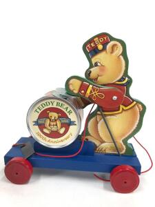 "2002 Fisher-Price Classic ""Teddy Bear Parade"" pull toy, No. 2-77502, limited edition, with box"