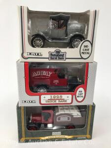 3 Agway Die-Cast Car Banks