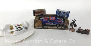 Group of Die-Cast Collectables and World University Games Hat