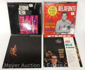 4 Record Albums, Joe Melis, Peter Duchin, Harry Belafonte and Jerome Kern