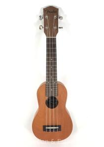 "Fender Ukulele, Excellent Condition, Serial Number OI15022188, 21""long"