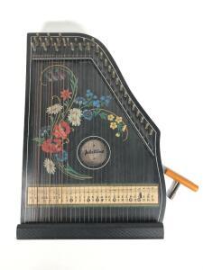 Vintage Jubeltone Solon Harp/Zither, made in Western Germany, 1960's, with tuning wrench, overall good condition