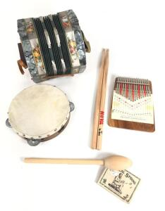 Squeeze Box, Tambourine and other Musical Instruments