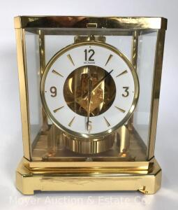 "LeCoultre 'Atmos' Shelf Clock, Swiss, no.254267, 9""tall"