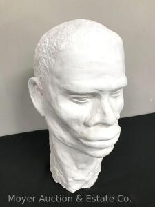 "Plaster Head Sculpture, 15""high"