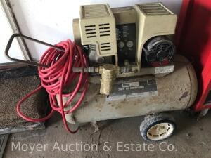 Sears 3hp 30 Gallon Air Compressor, twin cylinder, works, with air hose