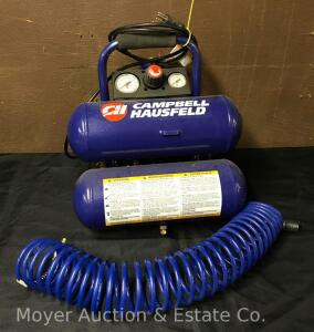 Campbell-Hausfeld Portable Air Compressor, 100psi. max, like-new