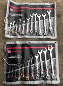 2 NAPA 11 Piece Combination Wrench Sets, one is Metric and one is Standard