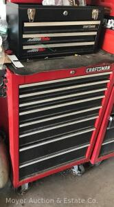 2 Pc. Craftsman Toolchest: Lift-top 3dr. Tool Box on 8dr. Base Cabinet (Contents Sell Separate)