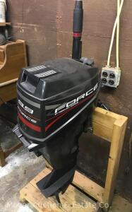 9.9hp Force Outboard Motor by Mercury, includes gas tank (family reports may been used once if at all)