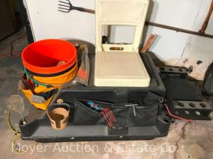 Small Ice Fishing Sled with Contents