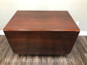 "Cherry Drop Leaf Table with 3 Leaves, closed size: 28""x44"", Each Drop Leaf is 24""x44"", 12"" wide loose leaves, nice condition"