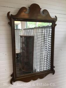 "Hanging Wall Mirror, Overall 23""x35"""