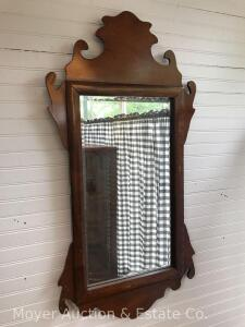 "Hanging Wall Mirror, Overall 19""x38"""