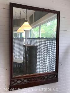 "Hanging Wall Mirror, Overall 24""x36"""