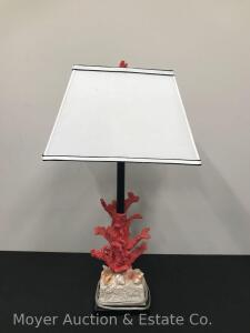 "Decorative Coral Lamp, 31"" Tall"