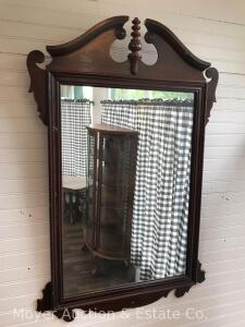 "Hanging Wall Mirror, Overall 24""x38"", Damaged Edges"