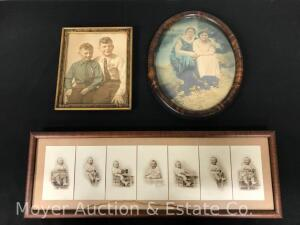 3 Early Framed Photographs