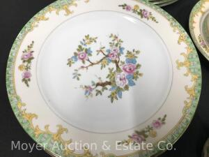 Floral Dinner China Set, Made in Japan, 90 Pieces