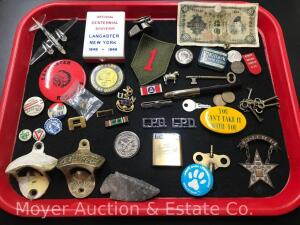 Group of Premiums, Pins and Collectables