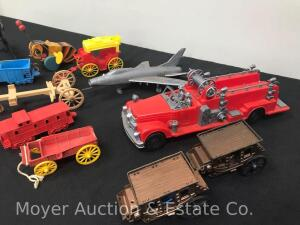 Group of Vintage Plastic Toys