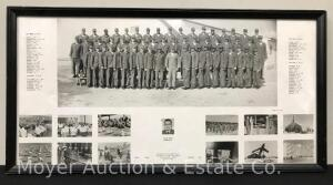 "1964 Military Photograph of Lackland Air Force Base, framed, overall size: 11""h x 21""w"