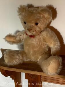 "Mohair Teddy Bear, jointed, 16""long"
