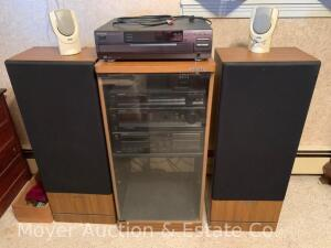 Kenwood Component Stereo System w/2 Kenwood Speakers, KT-57, KA-127, KX-67W, & CD-204