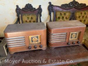 2 Crosley AM Radios, both model 56TC, unknown working cond., cabinets are good